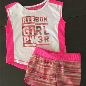 Toddler Girl Reebok Pink Gym Outfit